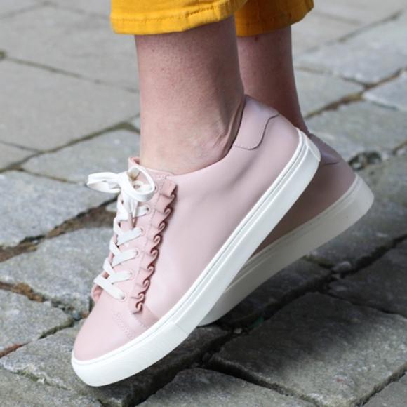 cd482f9866687 TORY SPORT Suede Ruffle Sneaker